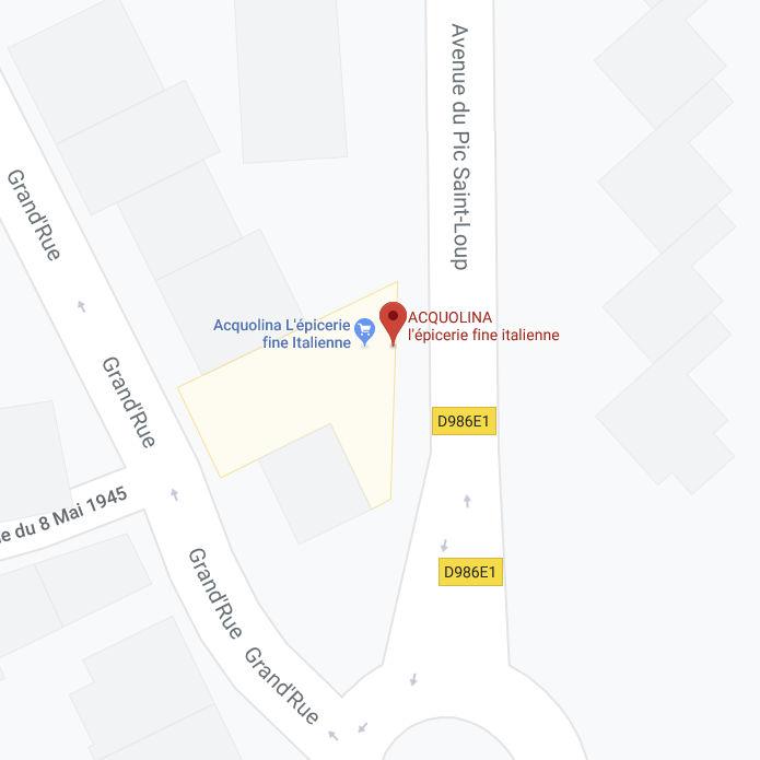 Accès Acquolina Google Maps